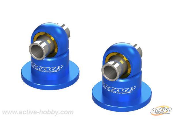 ラジコン                     ラジコン STR247B TRFダンパー用ピロ付ショックキャップ 2個 ブルー