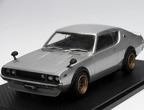 1/18 IG0032 Nissan SKYLINE 2000 GT-R(KPGC110)シルバー *