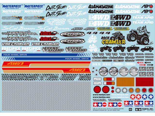 ラジコン                     ラジコン OP1630 スポンサーステッカーセット (オフロード)